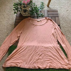 Logo By Lori Goldstein Top Tunic Coral Pink Size M